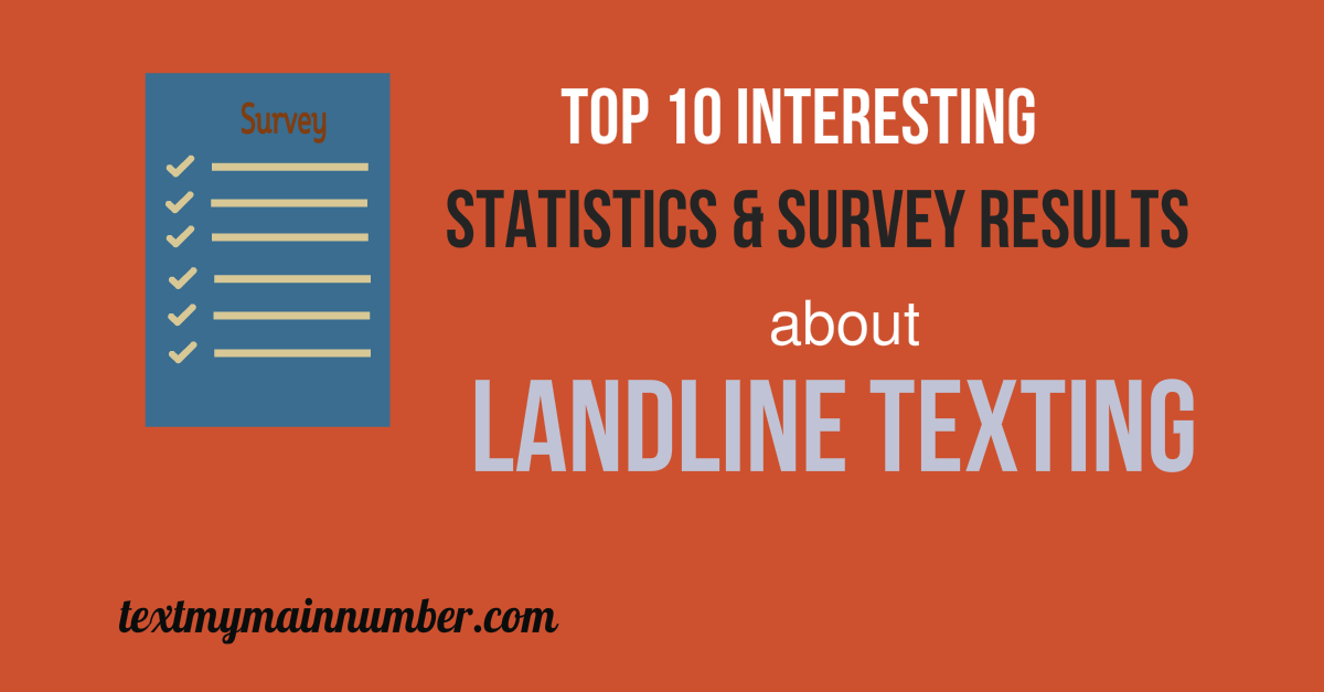 Top 10 stats of landline texting