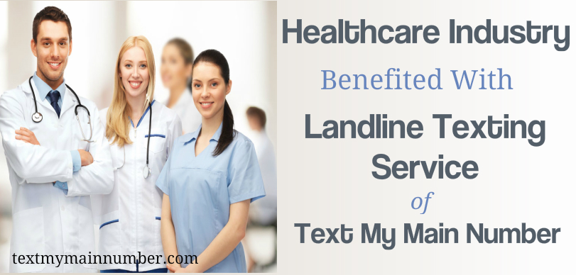 Landline texting for healthcare