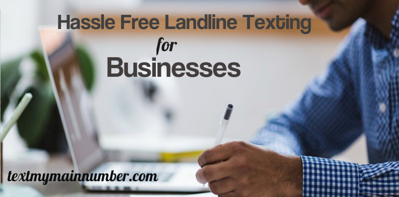 Landline texting for business